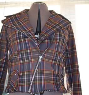 Wool Plaid Bomber Jacket 2009