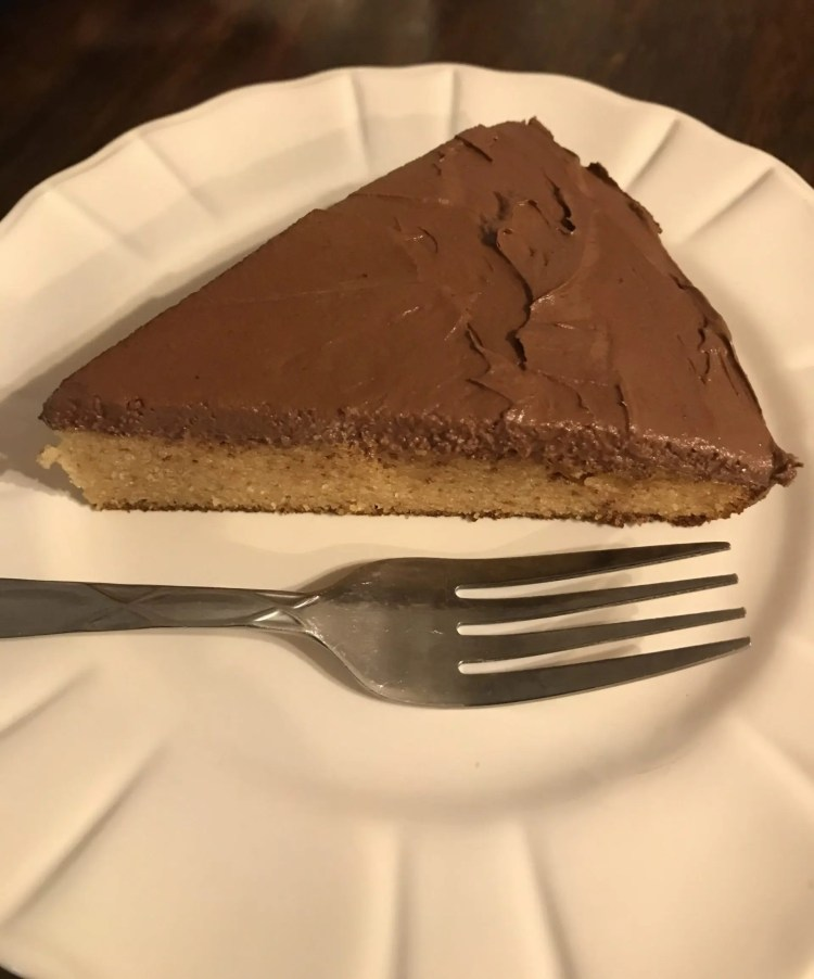 slice of birhtday cake