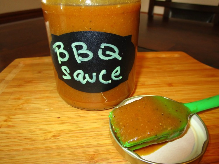 bbq sauce on brush