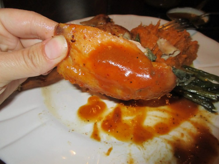bbq sauce on chicken wing