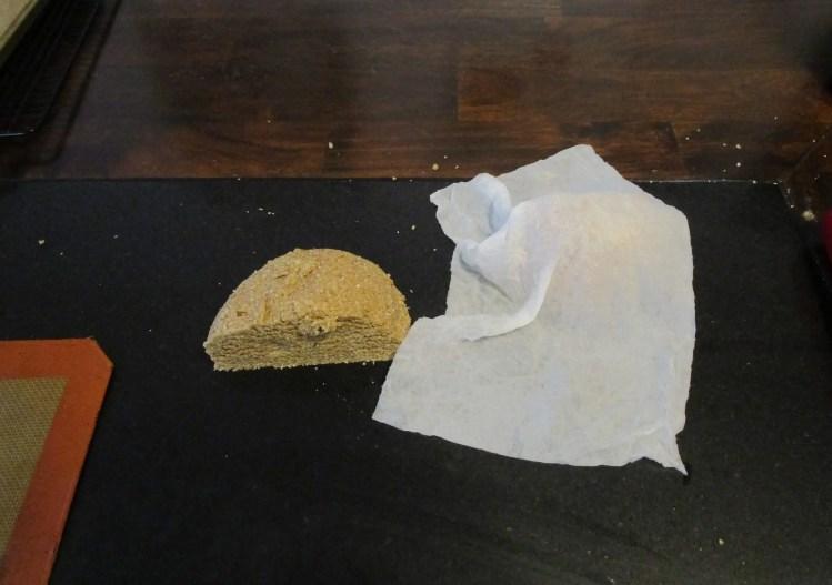 cover graham cracker dough with damp towel