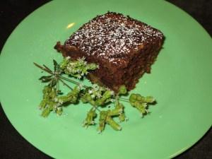 banana chocolate swirl cake on dish 2