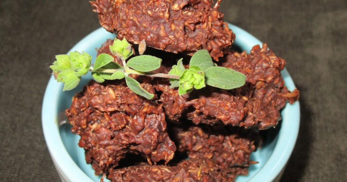 close up chocolate coconut treat