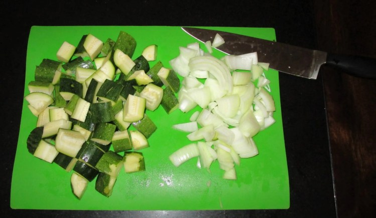 onions and zucchini