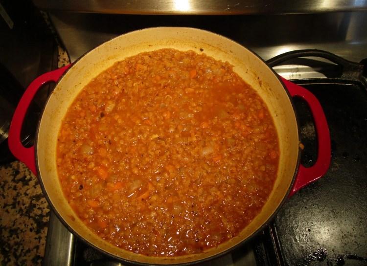 simmer on low lentil taco