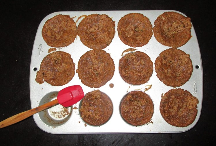 zucchini muffins cooked