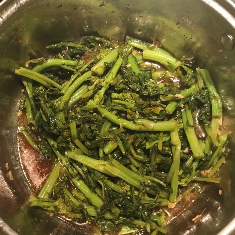 broccoli rabe with sambal oil