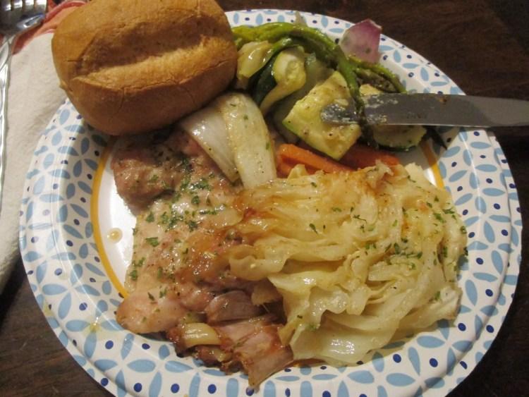 my paper dish chicken and veggies sheet pan