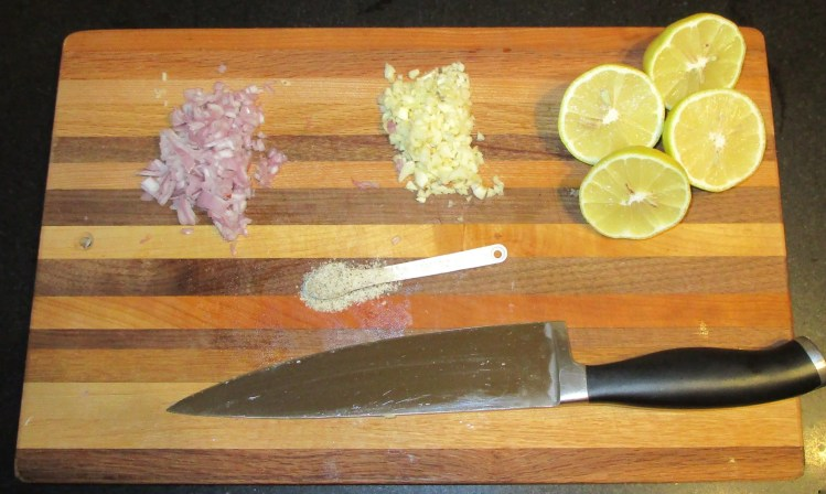 ingredients for garlic shrimp