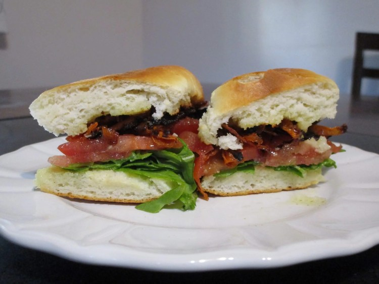 carrot bacon blt on dish