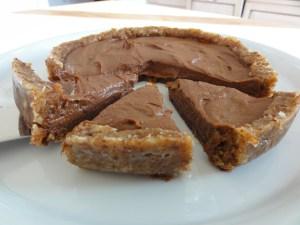 Köstliche Erdnussbutter Schoko Tarte
