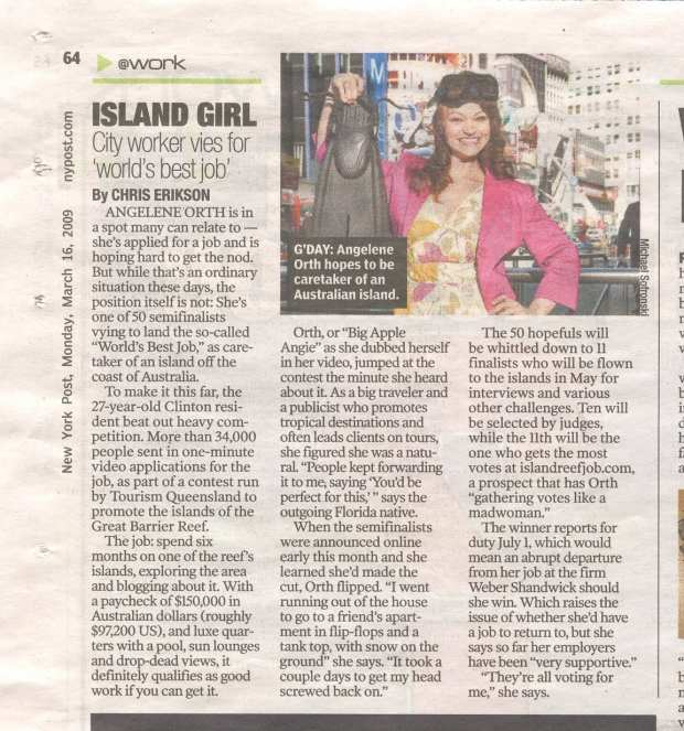 Me in the New York Post