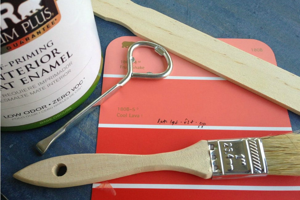 supplies for mod podge furniture project