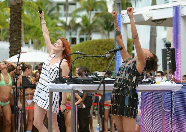 Icona Pop performs - photo courtesy of Getty Images. (Helllooo, I was in the pool singing I DON'T CARE, I LOVE IT!)