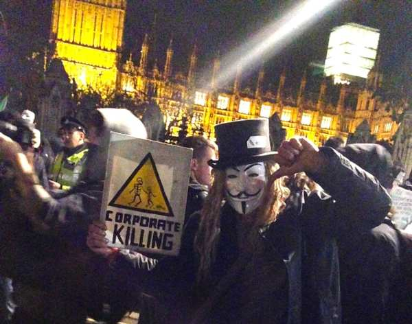 Guy Fawkes Protest London Anonymous November 5