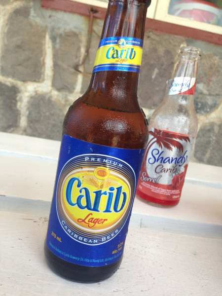 Like beer? Try Carib, a favorite brew in this part of the world.