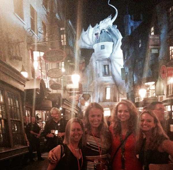 The most terrifying resident of Diagon Alley greets you with a fiery welcome