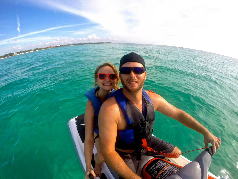 Jet-skiing in the Bahamas in December