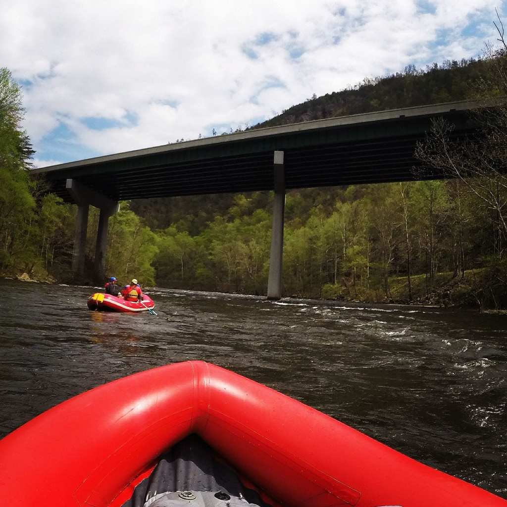 Rafting on the Lower Pigeon River is definitely more relaxing than adventurous, but it's perfect for kids & those who don't want to get too wet.