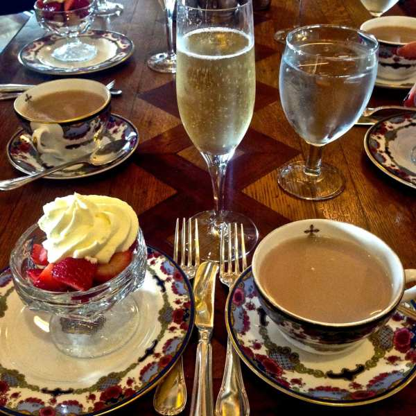 Feeling quite royal with Champagne & strawberries