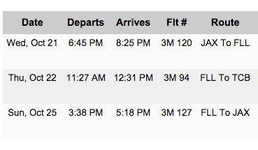 Um, where's the 3rd flight leg?