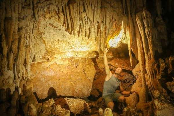 Leo + cave + science