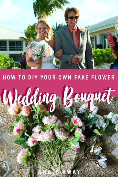 How to DIY you wedding bouquet in 5 easy steps! #DIY #Wedding #Tips #Hacks