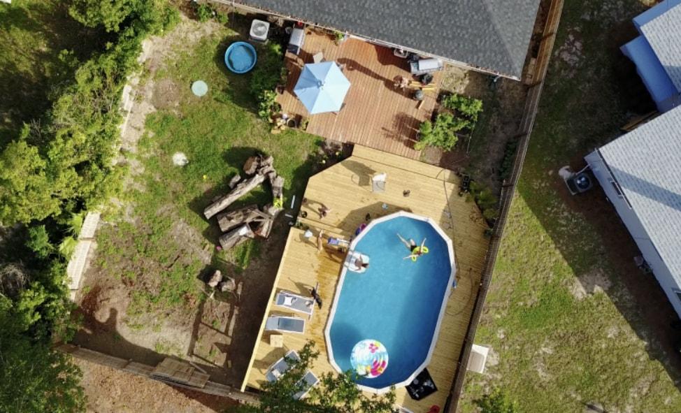 Swimming Pool taken with DJI Mavic