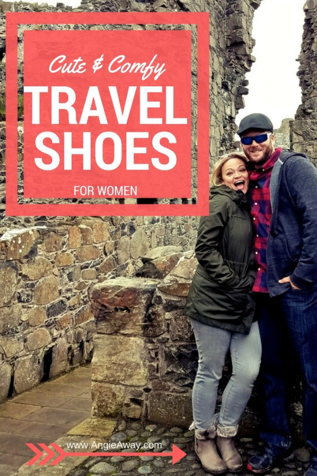 Stylish & Comfy travel shoes - boots, flip-flops, sandals, heels - for women! What I packed on my hiking adventure in Ireland/Northern Ireland.