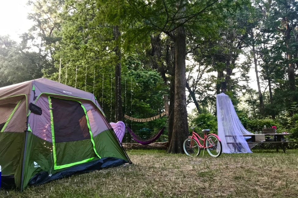 Camping at Ginnie Springs Campground