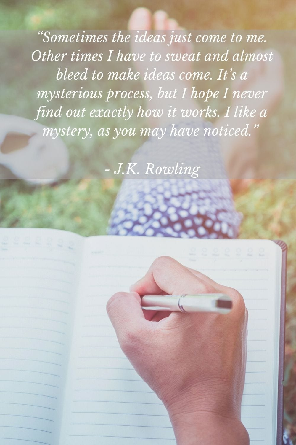 JK Rowling Writing quote