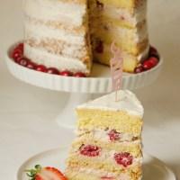 (Polo) Nahá torta s malinami a mascarpone krémom