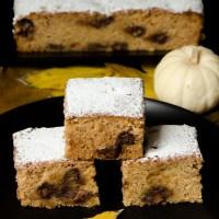 Tekvicový koláč s kúskami čokolády