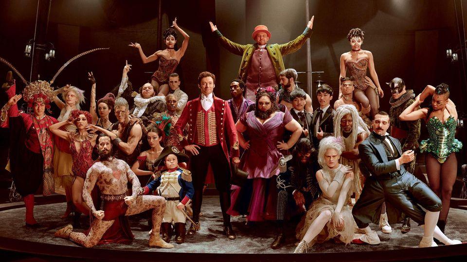 La troupe de The Greatest Showman