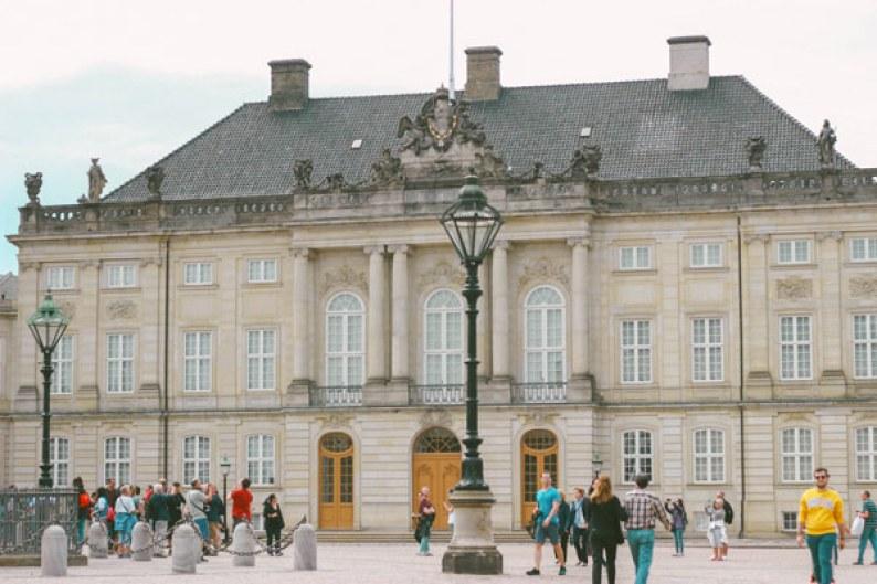 Amelienborg, résidence hiver de la reine à Copenhague