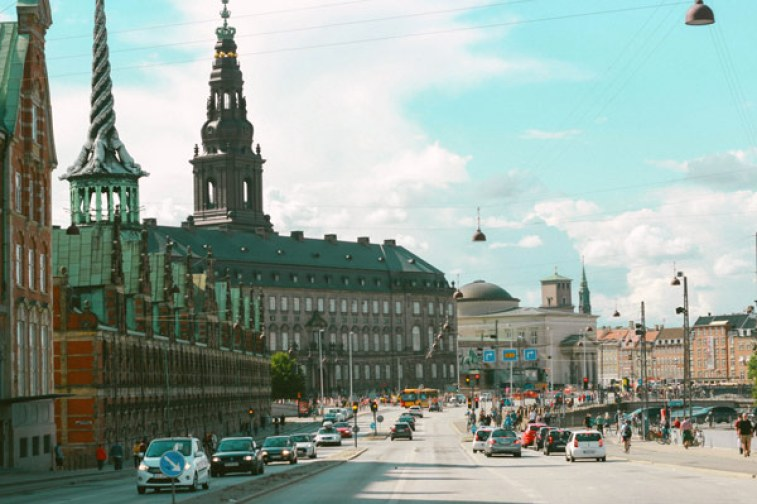 Le centre-ville de Copenhague