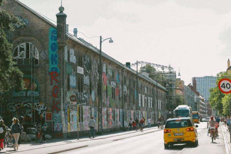 La quartier de Christiana à Copenhague