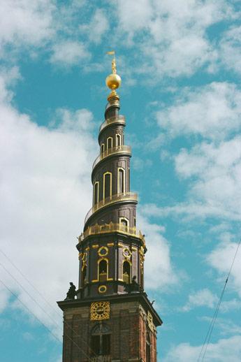 L'église de Saint-Sauveur à Copenhague