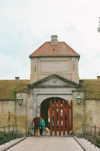 Entrée de l'ile forteresse à Copenhague
