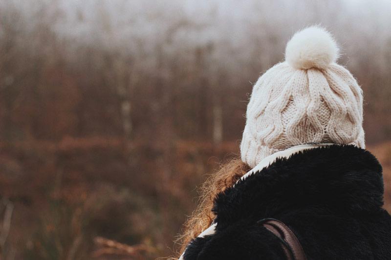 Balade en forêt en plein hiver
