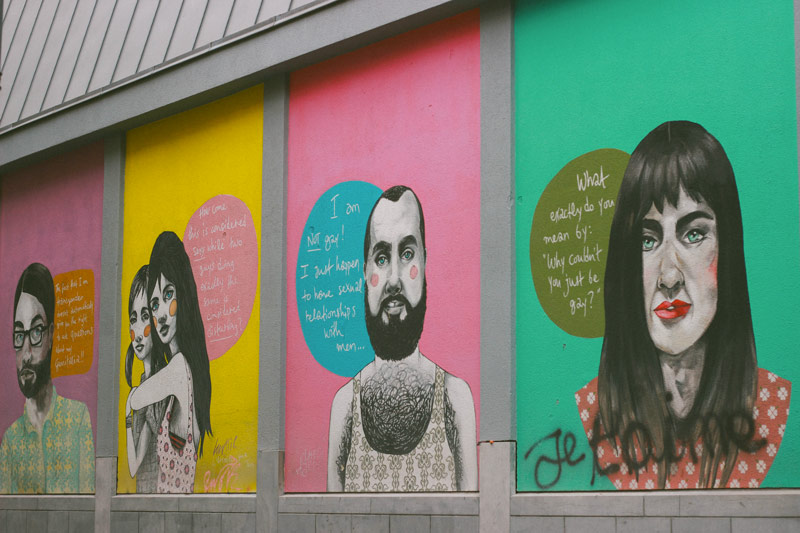 l'actualité sur les murs de Bruxelles