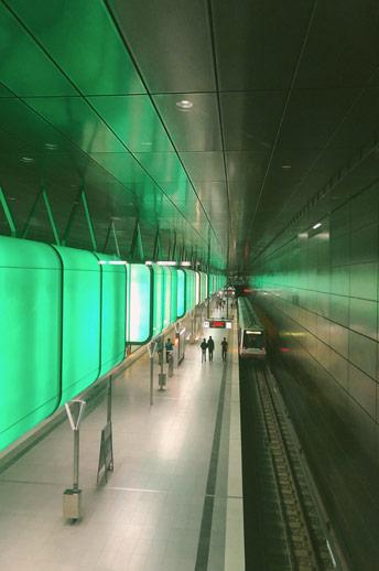Stations de métro à Hambourg