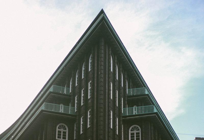 Le Kontorhaus du quartier des affaires d'Hambourg