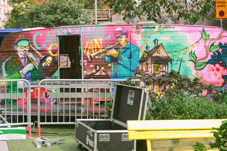 Nytorget et son street art