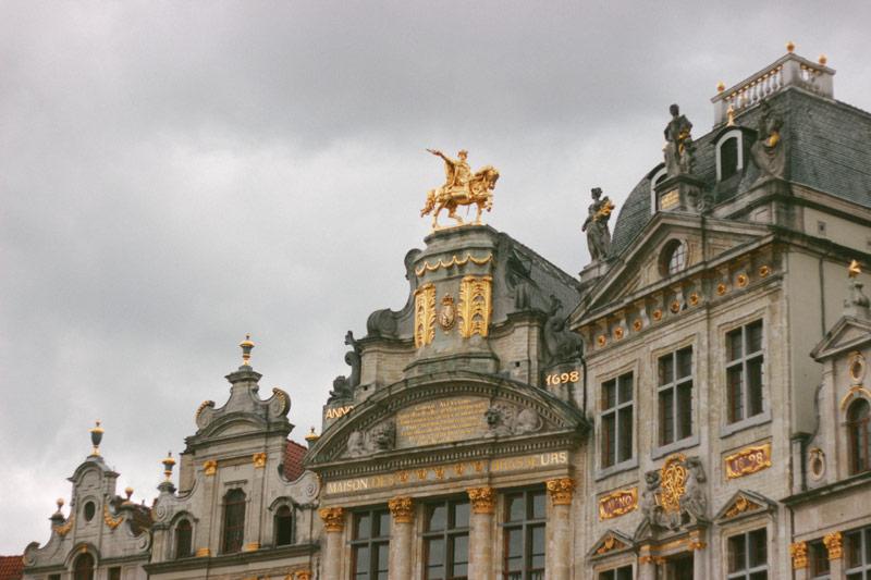 Les toits de la Grande Place de Bruxelles