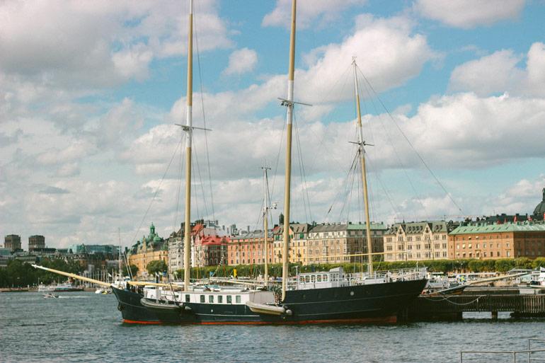 Vue sur Stockholm depuis le musée Vasa