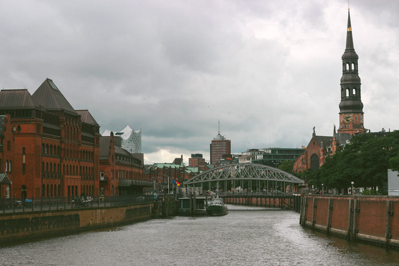 Vue sur Hambourg