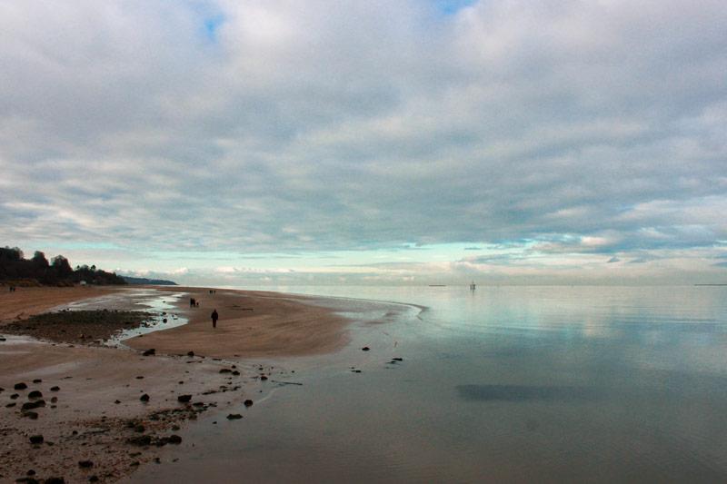 Une balade sur le bord de la plage à Honfleur