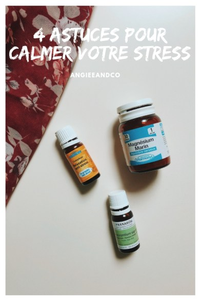 Epingle Pinterest pour mon article sur 4 solutions anti-stress