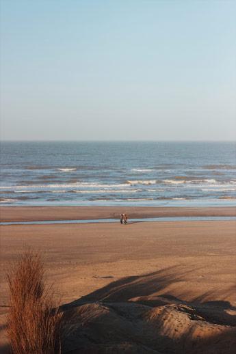 Vu sur la plage de Zaandvort